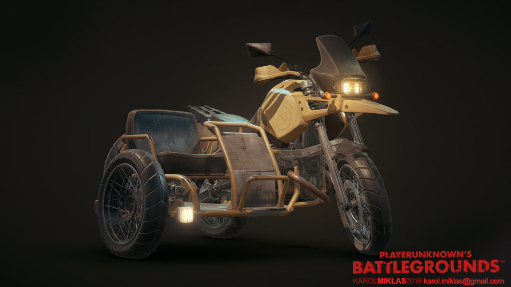 мотоцикл в PUBG