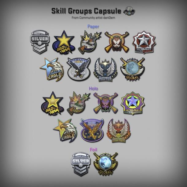 Стикеры со званиями CS:GO